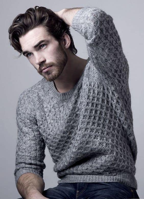 pulover cinza