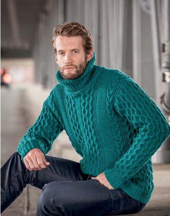 pulover classico com gola