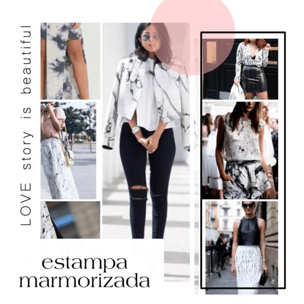roupas da moda estampa marmorizada look 24