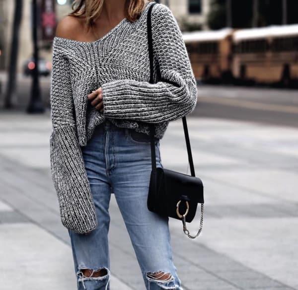 roupas da moda looks com tricô 49
