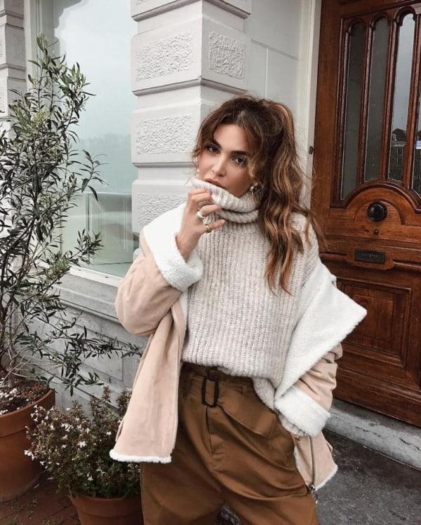 roupas da moda looks com tricô 54