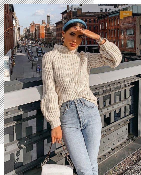 roupas da moda looks com tricô 55