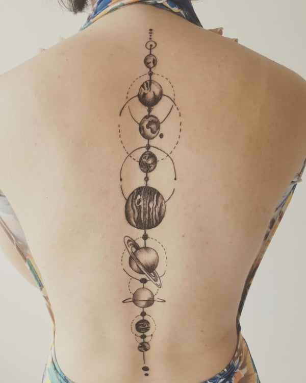 tattoo sistema solar grande
