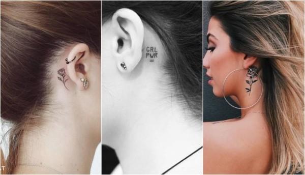 tatuagem atrás da orelha 70