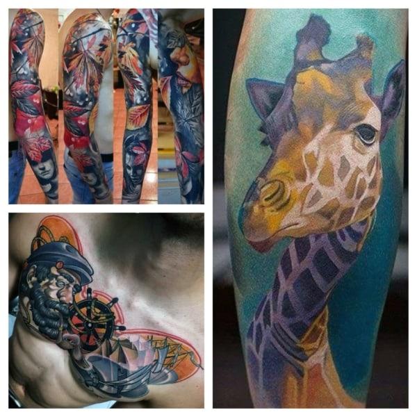 tatuagem colorida como fazer