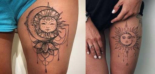 tatuagem feminina na coxa 27