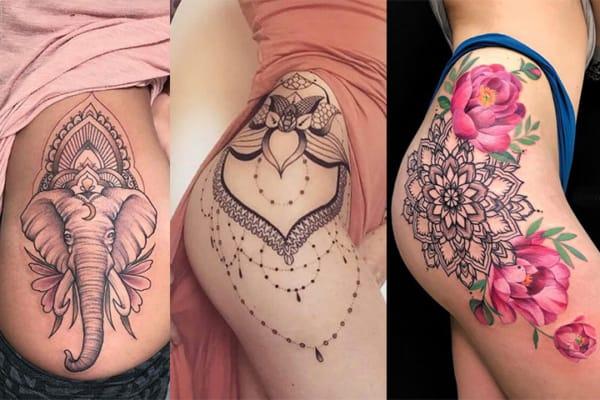 tatuagem feminina no quadril 61