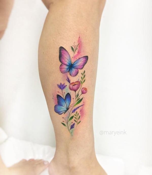 tatuagem feminina panturrilha 31