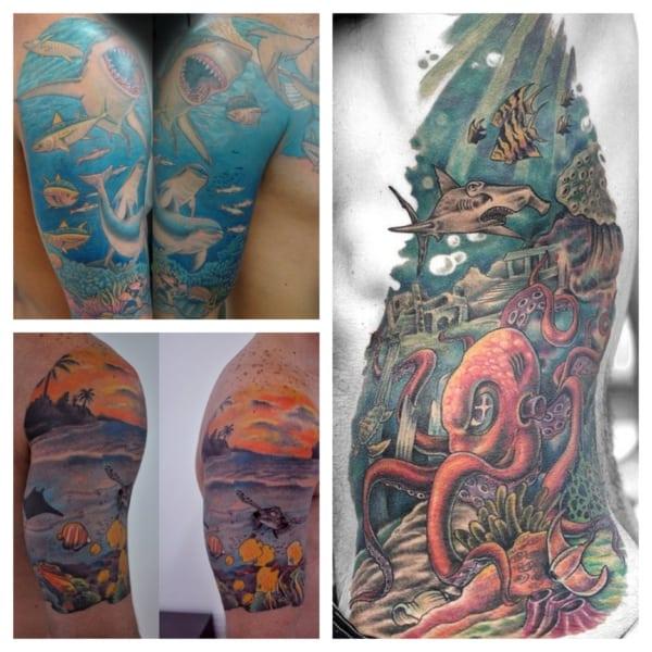 tatuagem fundo do mar 2