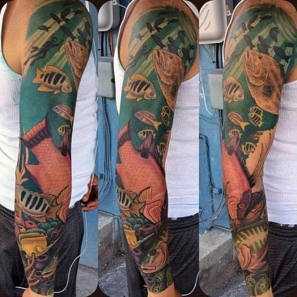 tatuagem grande no braço