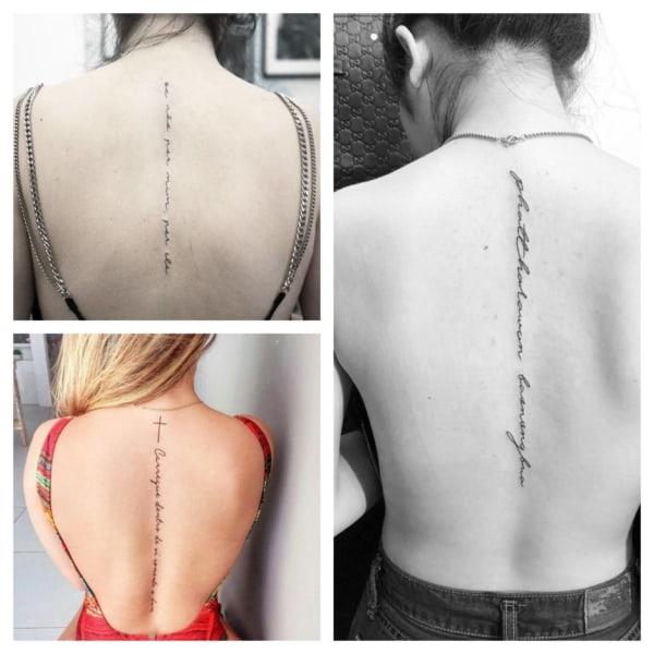 Tatuagem na COLUNA ➞ Dói? + 60 tattoos fascinantes!【2020】