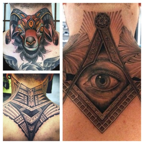 tatuagem na nuca grande
