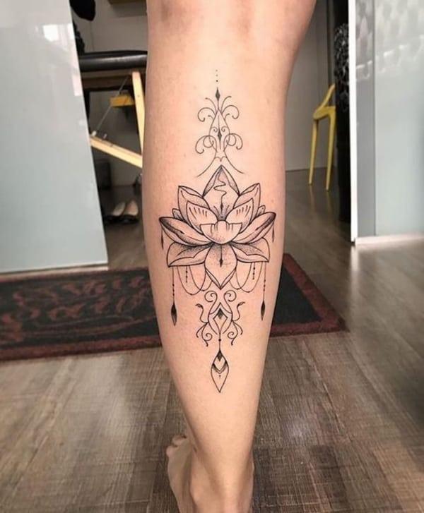 tatuagem na panturrilha 34