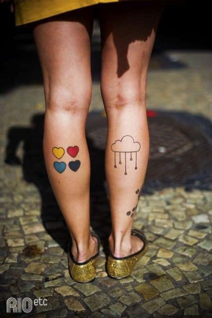 tatuagem na panturrilha 35