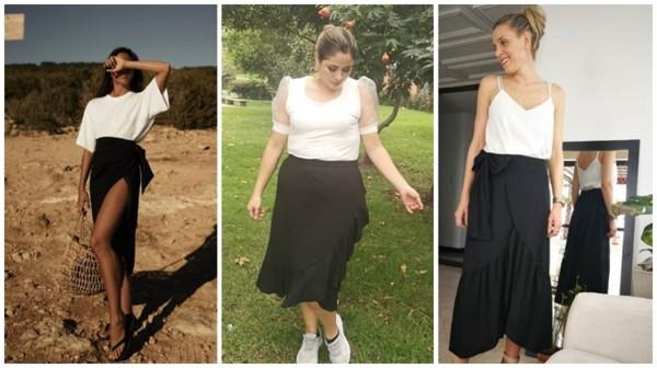 como usar saia pareô preta