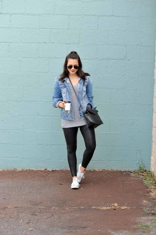 look de churrasco com jaqueta jeans