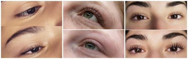 fotos antes e depois lash lifting