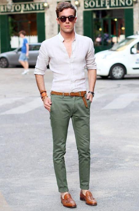 look social masculino elegante e moderno
