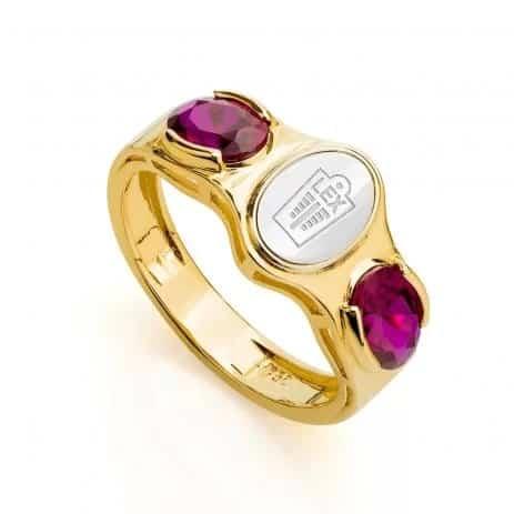 anel de rubi masculino para formatura
