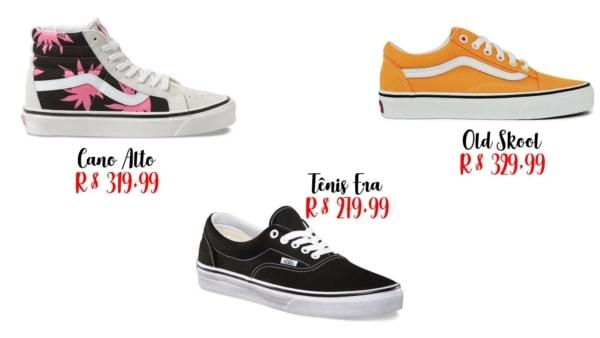 modelos e onde comprar tênis tumblr Vans