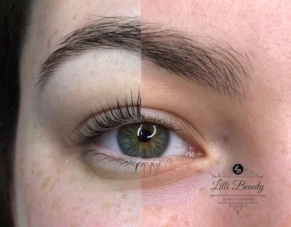 resultado de lash lifting nos cílios
