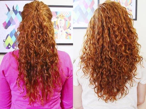 Antes e depois de corte para cabelo armado