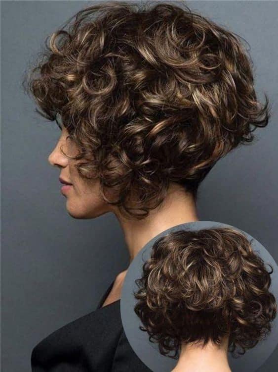Curly hair castanho iluminado