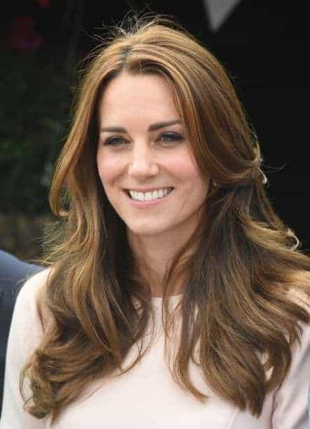Kate Middleton com corte de cabelo repicado