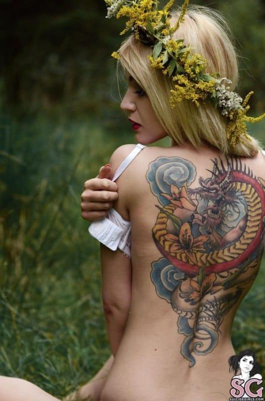 Tatuagem Dragão chines colorido