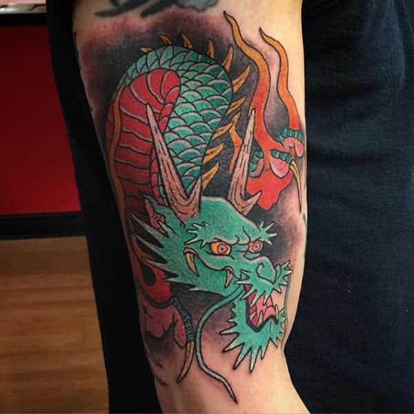 Tatuagem Dragão chines no braço