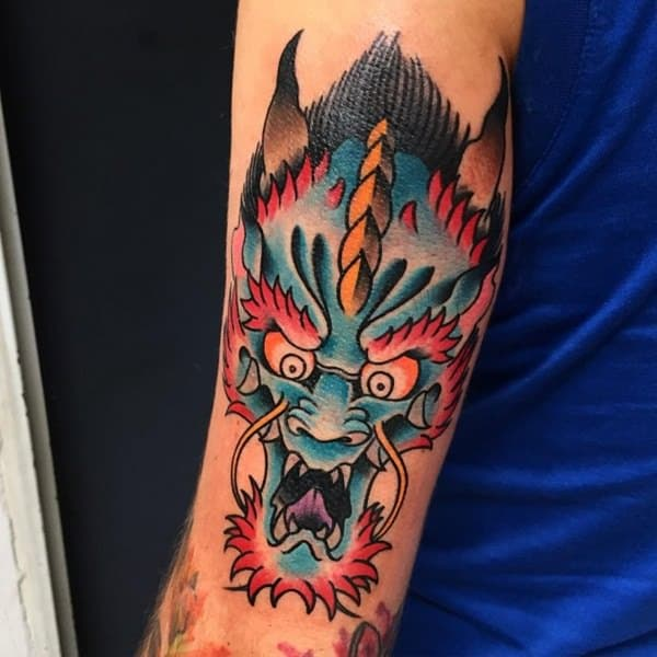 Tatuagem Dragão chines old school