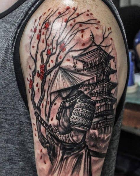 Tatuagem templo chines modelos