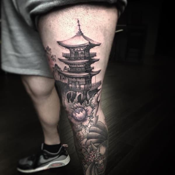 Tatuagem templo chines