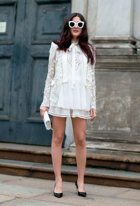 Vestido branco de renda 27