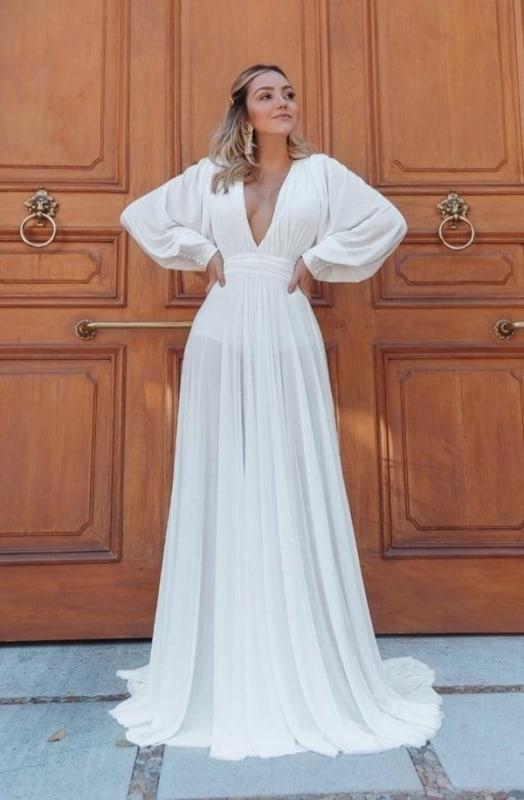 Vestido branco longo 19