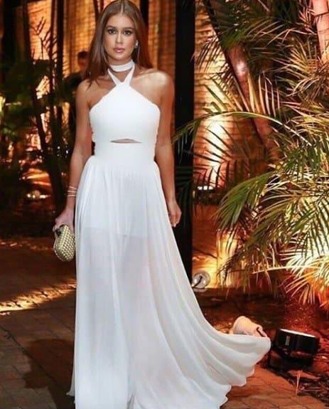 Vestido branco longo 20