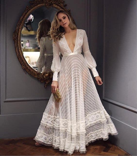 Vestido branco longo 21