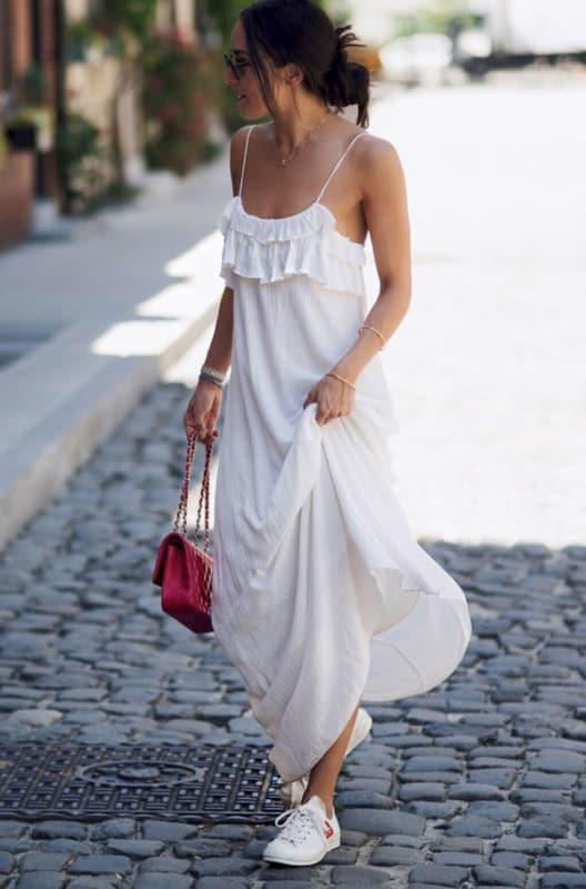 Vestido branco longo 22