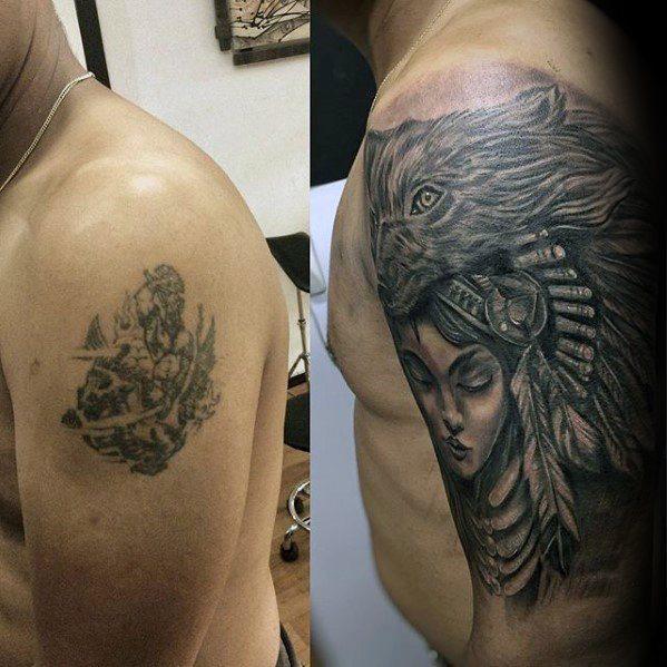 braço com tatuagem coberta