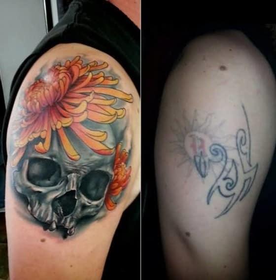 cobertura de tatuagem caveira