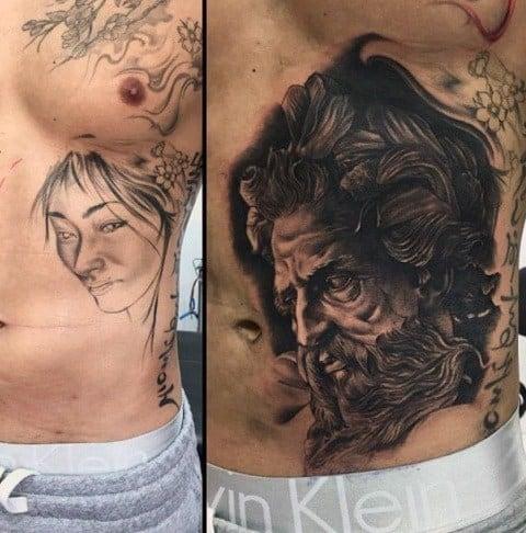 cobertura de tatuagem costelas