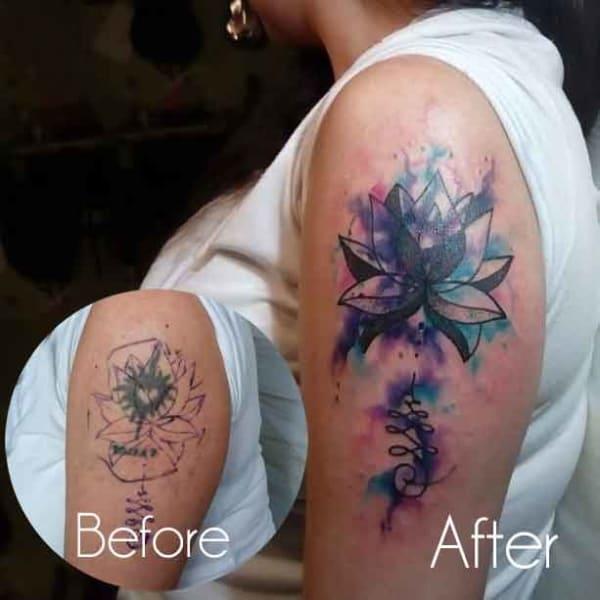 cobertura de tatuagem feminina ideias