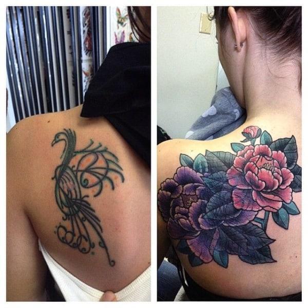 cobertura de tatuagem feminina