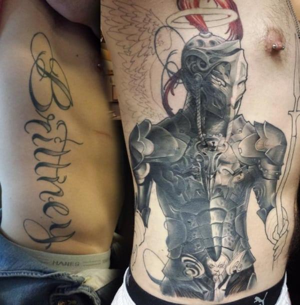 cobertura de tatuagem grande aquarela