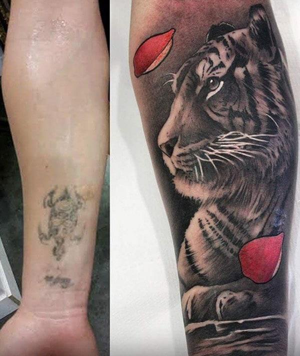cobertura de tatuagem perna