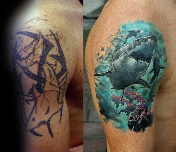 cover up tattoo colorida