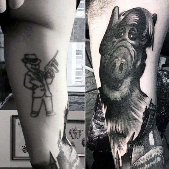 cover up tattoo preta ideias