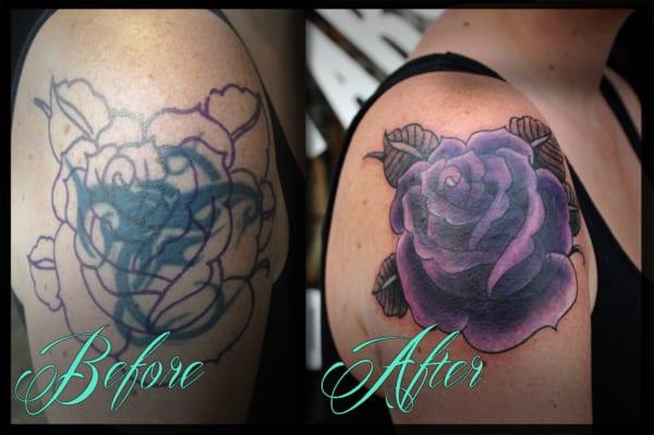 ideia de cobertura de tatuagem