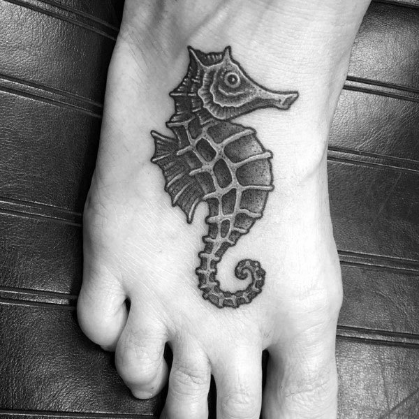 ideia de tatuagem cavalo marinho