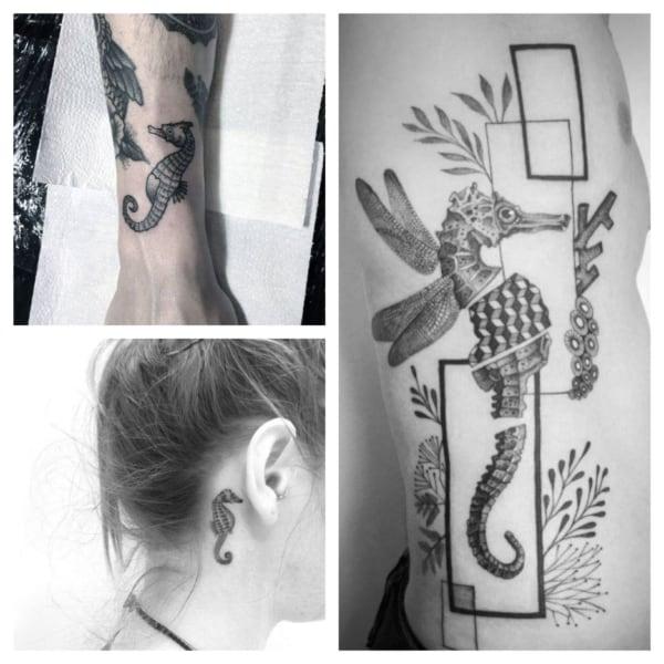 ideias de tatuagem cavalo marinho 1